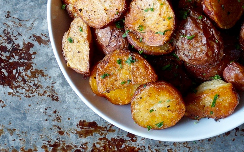 Crispy Oven Roasted New Potatoes. Classic Sides By Rebecca Gordon Buttermilk Lipstick TV Cooking Personality Editor In Chief Southern Tailgating Cooking & Entertaining Lifestyle Brand Pastry Chef Author Writer Food Stylist Photographer Original Recipes Content Crafts & Tailgating Party Ideas WBRC Fox 6 Contributor Birmingham Alabama