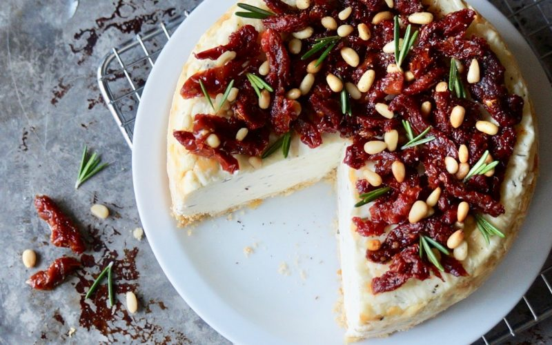 Sun Dried Tomato-Rosemary Cheesecake By Rebecca Gordon Editor-In-Chief Buttermilk Lipstick Culinary & Entertaining Brand Practical Culinary Techniques For Everyday Cooks Digital Culinary Photo Journalist Editorial Director Pastry Chef Food Stylist Modern Southern Socials Game Day Entertaining