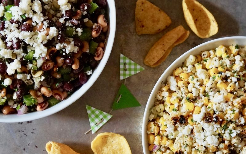 Game Day Entertaining Football Party Tailgating Recipe Ideas Rebecca Gordon Buttermilk Lipstick @016 Football Season Championship Caviar Dip Texas Caviar Corn Dip Buttermilk Lipstick Southern Football Tailgate Party Ideas