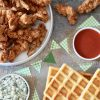 Southern Entertaining. Game Day Recipes. Buffalo Fried Chicken & Waffles By Rebecca Gordon Editor-In-Chief Buttermilk Lipstick Tailgating Recipes Cooking & Baking Tutorials Game Day Entertaining Southern Entertaining Southern Hostess Alabama & Auburn Tailgating Recipes Football Menus Birmingham Alabama Pastry Chef Writer Food Stylist