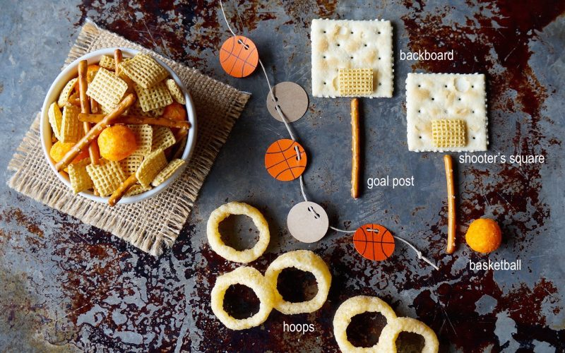 Basketball March Madness Snack Mix By Rebecca Gordon Buttermilk Lipstick Sports Entertaining Football & Tailgating Expert DIY Crafts Recipes Party Ideas TV Cooking Personality Chef Author Cooking Lessons Birmingham Alabama Crimson Tide Hoops