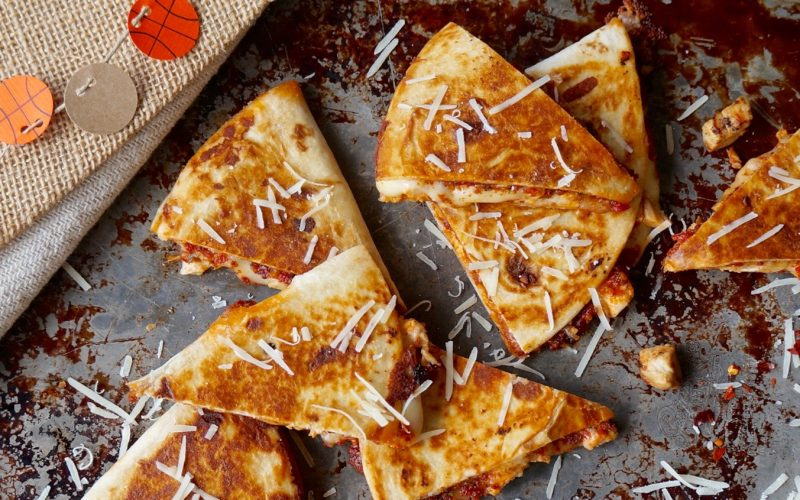 Sun Dried Tomato-Pecan Pesto Chicken Quesadillas By Rebecca Gordon Buttermilk Lipstick TV Cooking Personality Basketball Party Entertaining Ideas March Madness Tailgating Expert Football & Sports Entertaining DIY Crafts Recipes Tide & Tigers Today Tailgate Host WBRC Raycom Sports Birmingham Alabama Crimson Tide