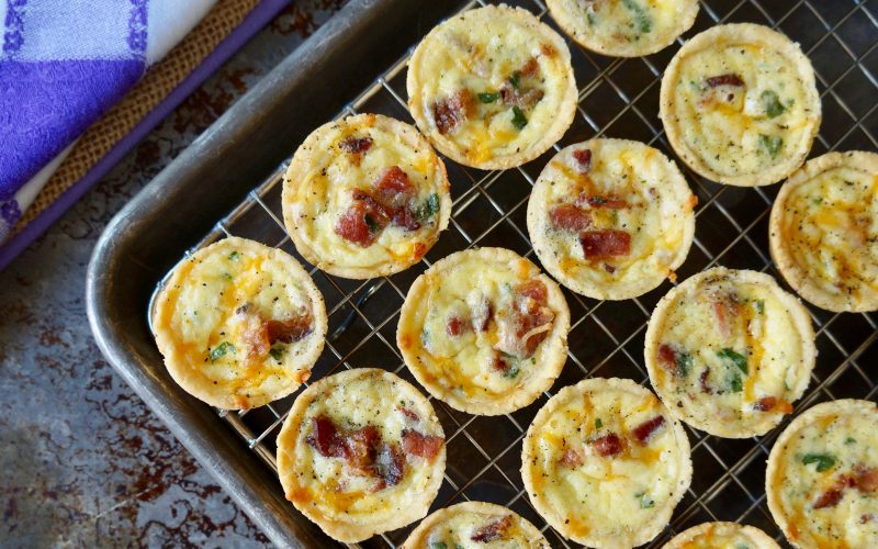 Mini Bacon-Cheddar Quiche By Rebecca Gordon Buttermilk Lipstick Southern TV Cooking Personality Birmingham Alabama Spring Entertaining Southern Hostess Tailgating Expert Sports Entertaining Tide & Tigers Today Game Day Host Raycom Sports WBRC Fox 6 Cooking Lessons How To Pastry Chef