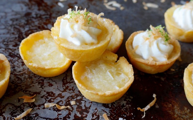 MIni Coconut-Key Lime Chess Pies By Rebecca Gordon Buttermilk Lipstick Southern TV Cooking Personality Spring & Easter Entertaining Desserts Baby & Bridal Showers Birmingham Alabama Sports & Tailgating Party Ideas Tide & Tigers Today Game Day Hostess