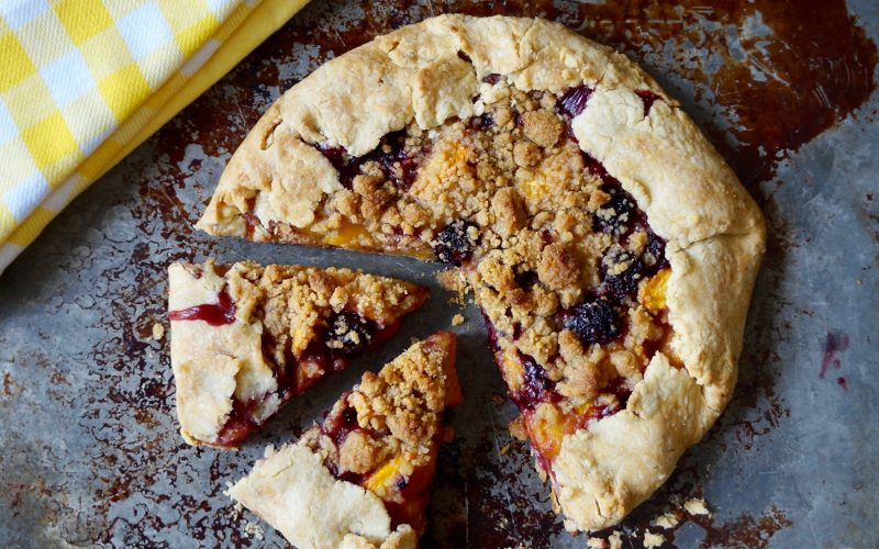 Rustic Pies: Blackberry-Peach Crostata By Rebecca Gordon Buttermilk Lipstick TV Cooking Personality Birmingham Alabama Pastry Chef Editor-in-Chief Food Stylist Southern Hostess Author Tailgating Expert Tide & Tigers Today Tailgate Host Raycom Sports WBRC Fox 6 Sports Entertaining Barbecue Pies & Desserts Peaches Blackberry Crostata Freeform Tarts & Pies Cooking Lessons