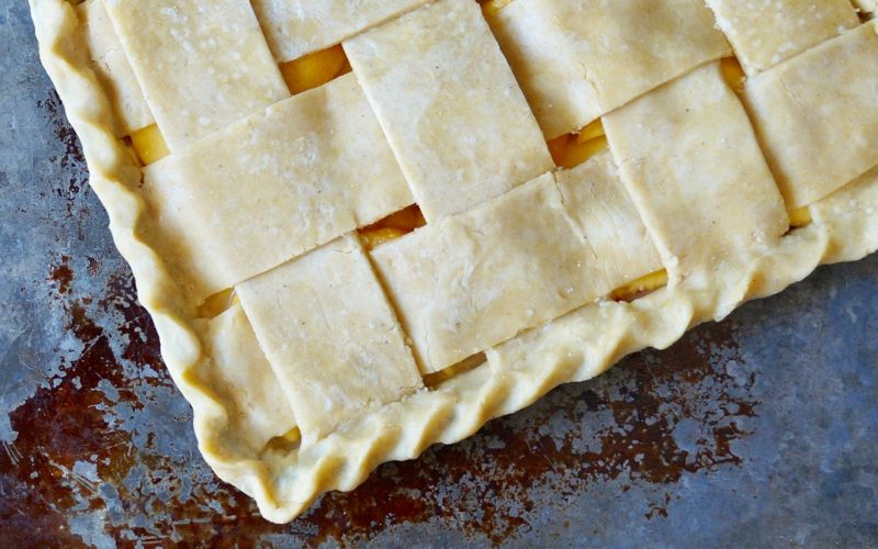 How To Make A Lattice Topped Peach Pie By Rebecca Gordon Buttermilk Lipstick TV Cooking Personality Editor-in-Chief Pastry Chef Birmingham Alabama Writer Author Southern Hostess Tailgating Expert Sports Entertaining Tide & Tigers Today Tailgate Host WBRC Fox 6 Cooking Lessons How To Make Peach Pie