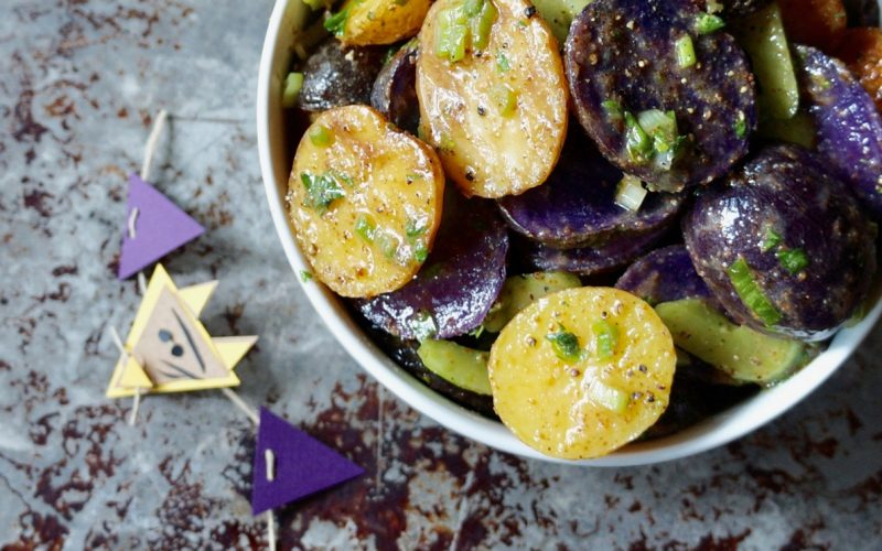 Game Day Entertaining. Purple & Gold Potato Salad By Rebecca Gordon Buttermilk Lipstick TV Cooking Personality Southern Tailgating Expert Editor-In-Chief Southern Lifestyle Tailgating Cooking & Entertaining Brand Pastry Chef Tide & Tigers Today Tailgate Host WBRC Fox 6 Birmingham Alabama