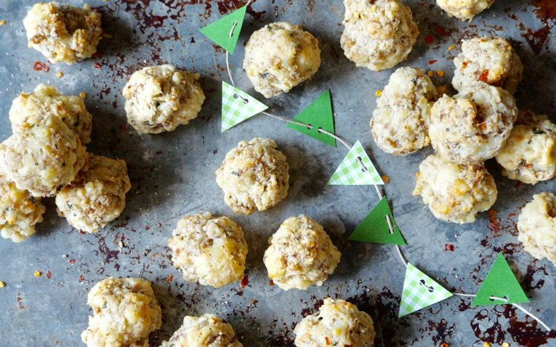 Game Day Entertaining Gridiron Sausage Balls With Jarlsburg, Parmesan & Homemade Biscuit Mix By Rebecca Gordon Buttermilk Lipstick Southern Tailgating Expert TV Cooking Personality Editor-In-Chief Southern Cooking Tailgating & entertaining lifestyle brand Southern hostess WBRC Fox 6 Birmingham Alabama Contributor