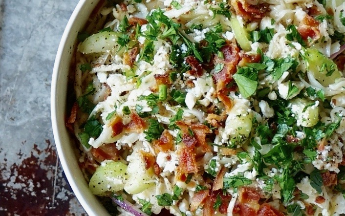 Game Day Tailgating: Bacon-Blue Cheese Slaw By Rebecca Gordon Editor-In-Chief Buttermilk Lipstick