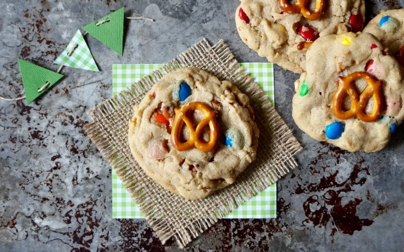 Game Day Entertaining: M&M-Peanut Butter-Pretzel Cookies By Rebecca Gordon Buttermilk Lipstick Editor-In-Chief Southern Tailgating, Cooking & Entertaining Brand Sports entertaining Southern Tailgating Expert Tide & Tigers Today Tailgate Host WBRC Fox 6 Birmingham Alabama Pastry Chef Writer Author