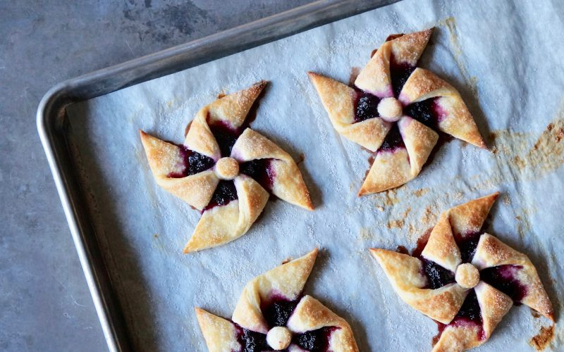 Fresh Blueberry Danish Pinwheels By Rebecca Gordon Editor-In-Chief Buttermilk Lipstick Culinary Entertaining Techniques Cooking Baking Tutorials Southern Entertaining RebeccaGordon Southern Hostess Modern Southern Socials Game Day Entertaining Pastry Chef Birmingham Alabama ButtermilkLipstick Culinary Lessons How To Make Classic Pinwheel Pastry TV Cooking Personality