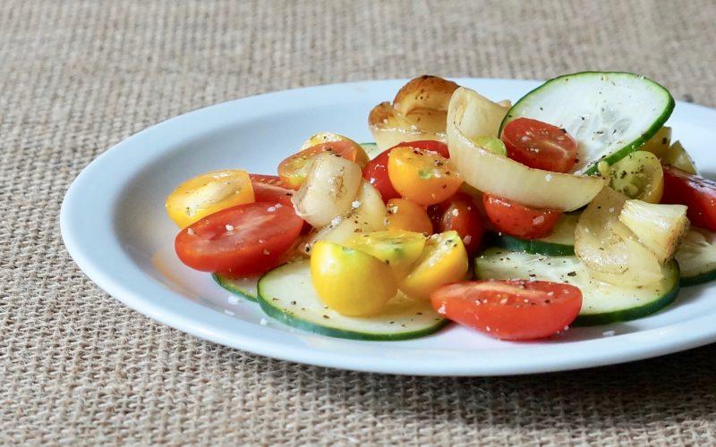 Southern-Entertaining-Grilled-Onion-Tomato-Cucumber-Salad-Rebecca-Gordon-Buttermilk-Lipstick-Culinary-Techniques-RebeccaGordon-Southern-Hostess-Birmingham-Alabama