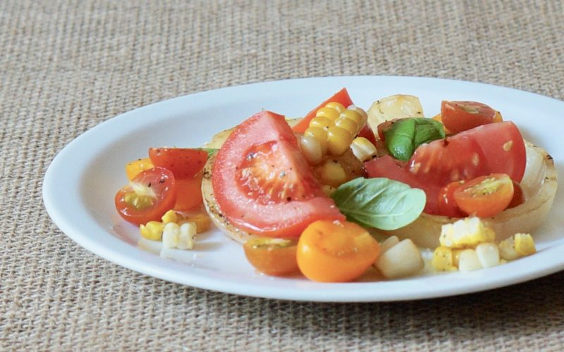 Southern-Entertaining-Grilled-Onion-Tomato-Cucumber-Salad-Rebecca-Gordon-Buttermilk-Lipstick-Culinary-Techniques-RebeccaGordon-Southern-Hostess