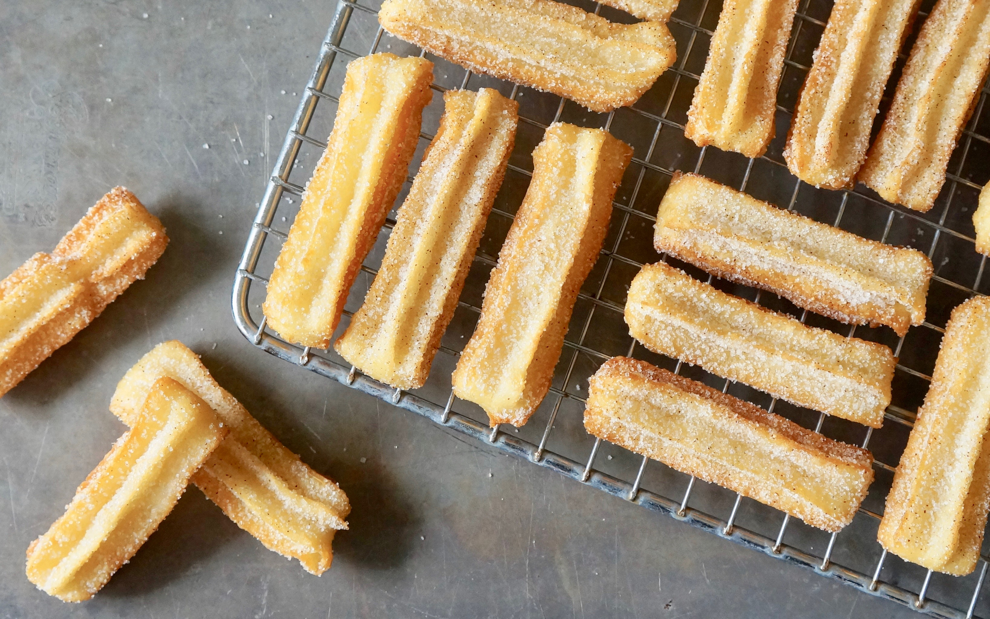 Frying-Buttermilk-Churros-Mexican-Street-Food-Classics-Rebecca-Gordon-Editor-In-Chief-Buttermilk-Lipstick-Southern-Entertaining-RebeccaGordon-Pastry-Chef-Southern-Hostess-Birmingham-Alabama