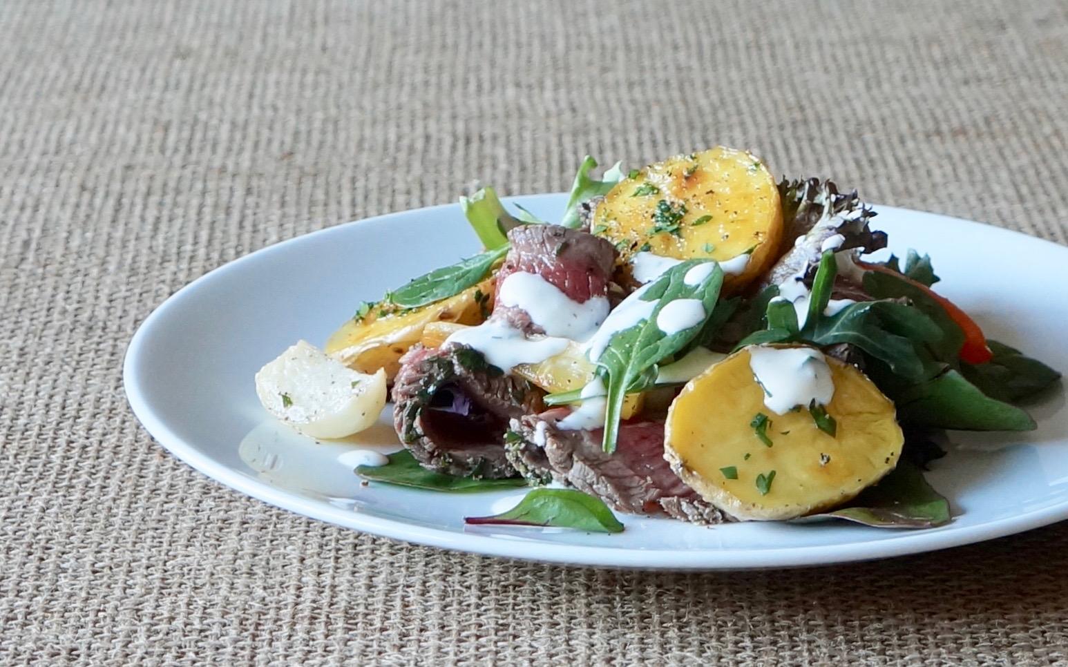 Lemon-Thyme-Top-Sirloin-Steak-Salad-Roasted-Winter-Root-Vegetables-Rebecca-Gordon-Publisher-Buttermilk-Lipstick-Culinary-Entertaining-Techniques-RebeccaGordon-Pastry-Chef-Birmingham-Alabama