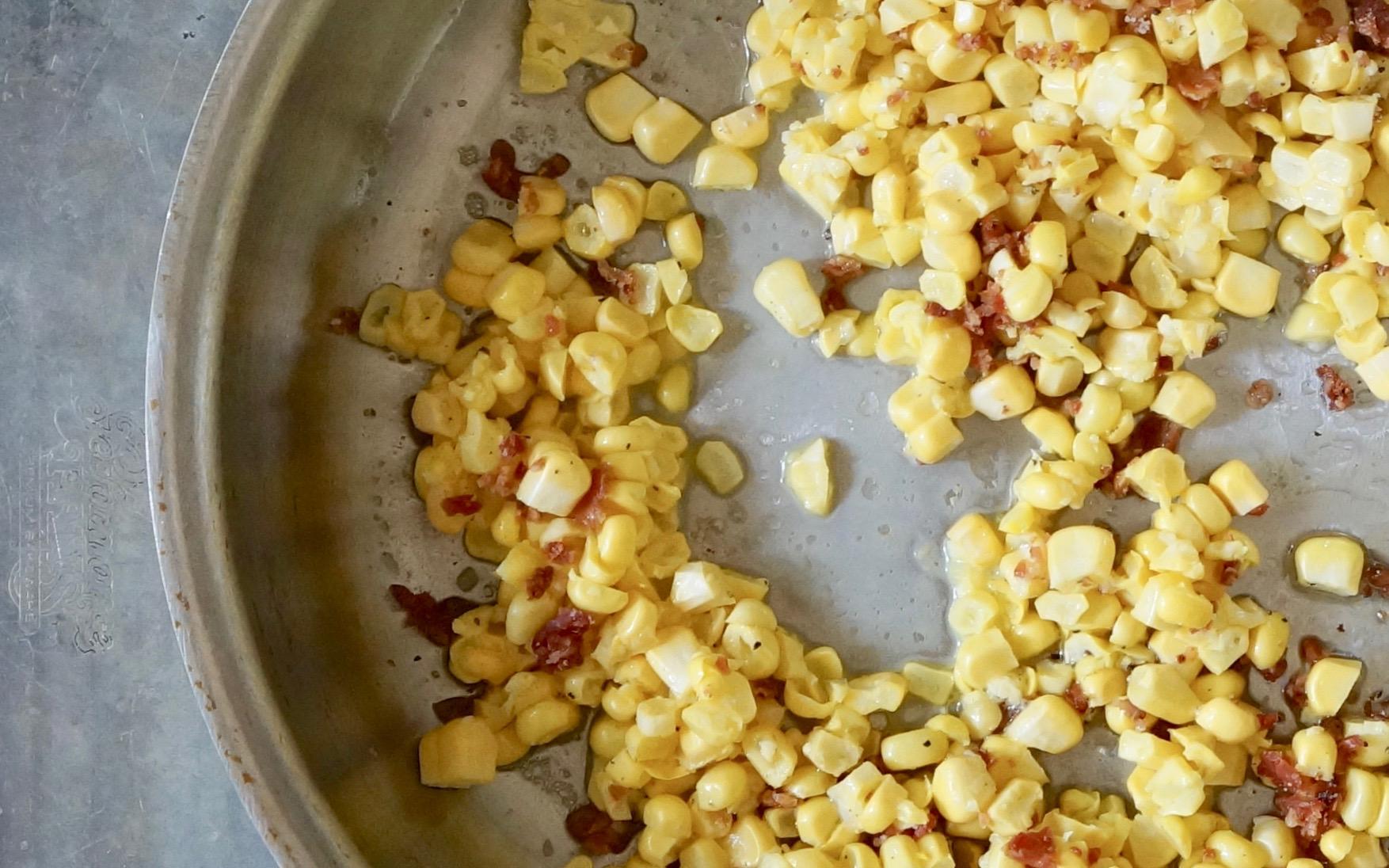 Fried-Corn-With-Bacon-Rebecca-Gordon-Editor-In-CHief-Buttermilk-Lipstick-Culinary-Entertaining-Techniques-Southern-Hostess-RebeccaGordon-Pastry-Chef-Birmingham-Alabama