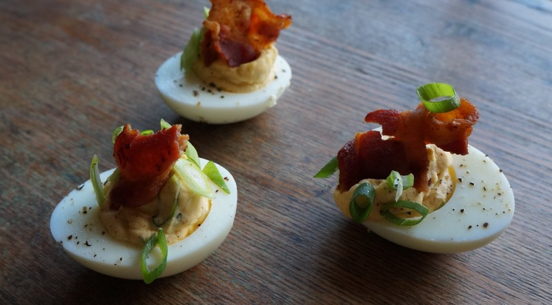 southern favorite: bacon-blue cheese deviled eggs | buttermilk ...