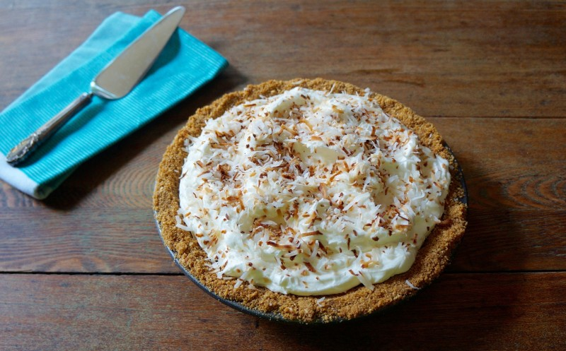 Classic Coconut Cream Pie How To Toast Coconut RebeccaGordon ButtermilkLipstick Tailgating