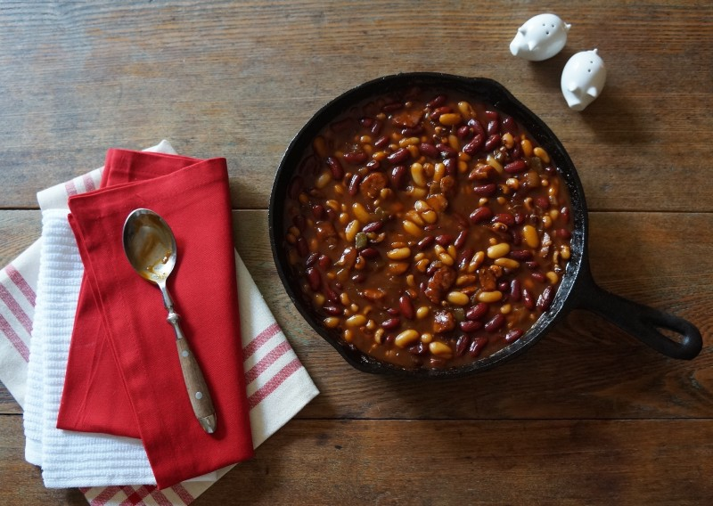Bourbon Molasses Baked Beans Barbecue Rebecca Gordon Buttermilk Lipstick July 4th Tailgating Recipes