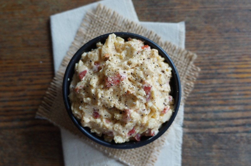 How To Make pimento cheese rebeccagordon buttermilklipstick tailgating food football Saturday kickoff college university easy entertaining southern recipe staples icons food