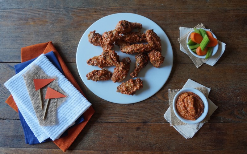 Buffalo Hot Wings RebeccaGordon Buttermilk Lipstick Tailgating Southern Hostess Sprouts Farm Fresh Produce