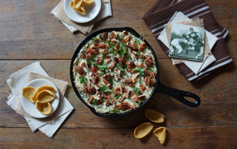 Warm Hot Spicy Spinach Dip rebeccagordon buttermilklipstick southern tailgating recipes hostess food ideas