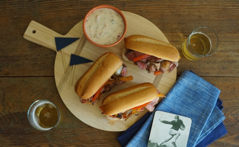 Game Day Cheesesteak rebeccagordon buttermilklipstick football party food tailgate