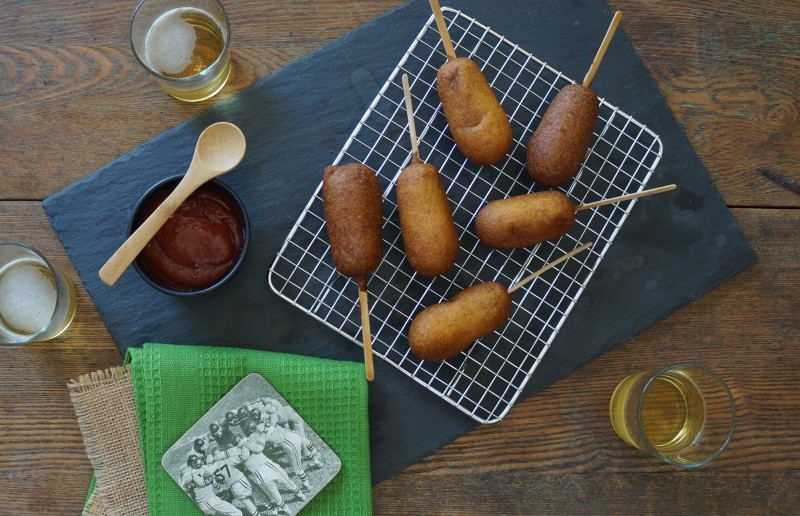 How To Fry Corn Dogs Cajun Ketchup Tailgating Party ideas tips rebeccagordon buttermilklipstick southern hostess tailgate recipes SEC Football