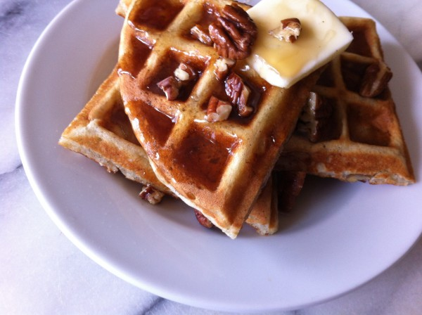 Banana Bread Buttermilk Waffles Talk of Alabama rebeccagordon buttermilklipstick southern recipes