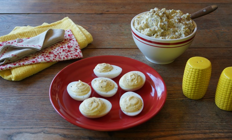 Horseradish Cream Deviled Eggs Rebecca Gordon Buttermilk Lipstick Southern Recipes outdoor living party recipes