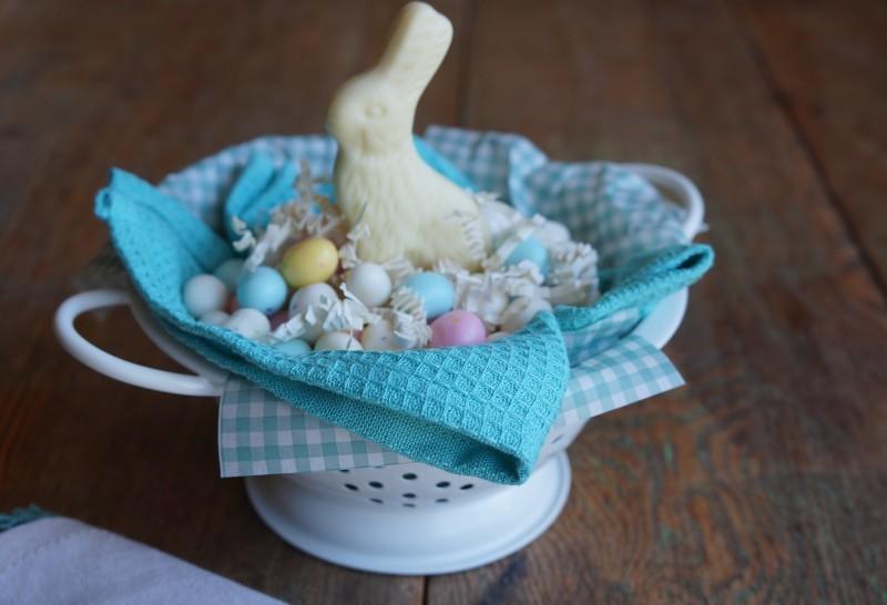 Easter Basket Ideas Pastel Candy Gingham paper World Market Items Rebecca Gordon Buttermilk Lipstick southern Hostess Ideas