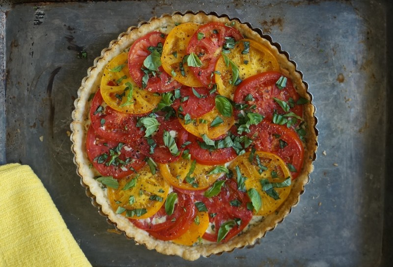 How To Make Southern Tomato Pie RebeccaGordon ButtermilkLipstick Tailgating food recipes summer entertaining